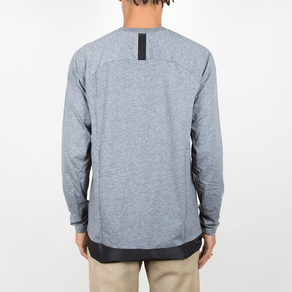 Nike NSW Bonded Long Sleeve Top Carbon Heather / Black-01
