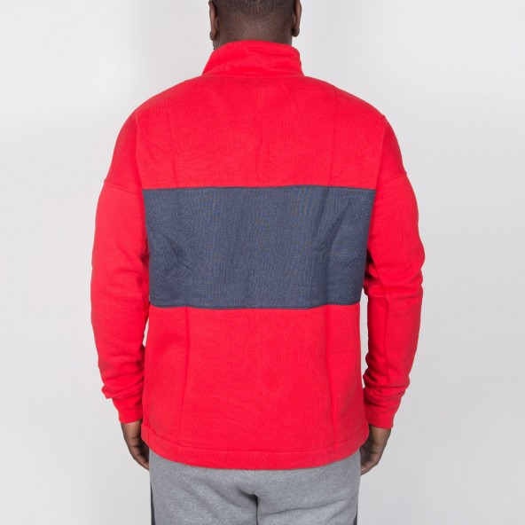 Nike Fleece Air Top Half-Zip Pullover University Red / Thunder Blue / Wolf Grey-01