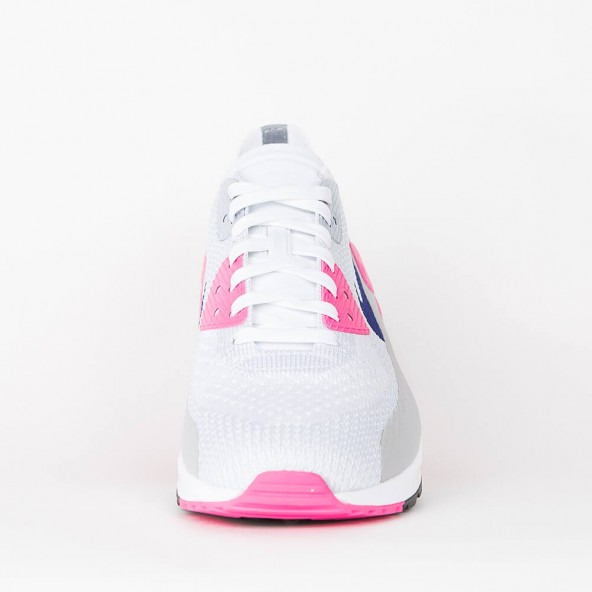 Nike Wmns Air Max 90 Ultra 2.0 Flyknit White / Concord Laser Pink Black-01