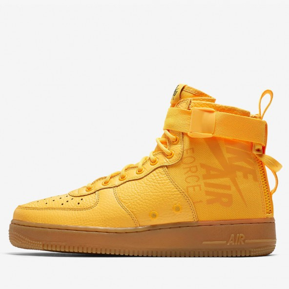 "Nike SF Air Force 1 Mid ""Odell Beckham Jr"" Laser Orange / Gum Med Brown-01"