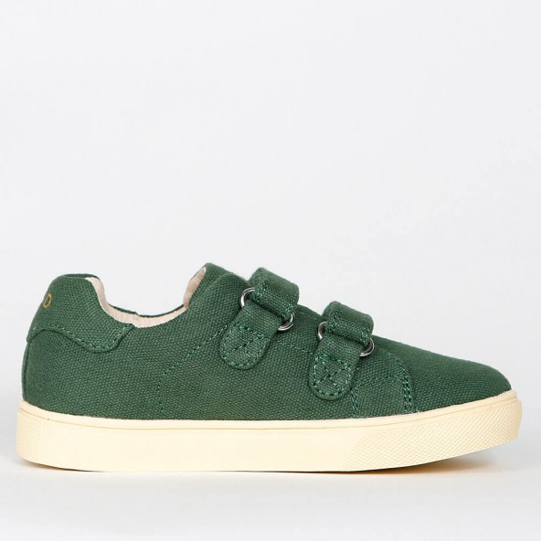 Akid Axel Green Canvas / Light Bone-01