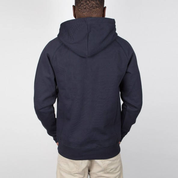 Carhartt WIP Hooded Chase Sweater Dark Navy / Gold-01