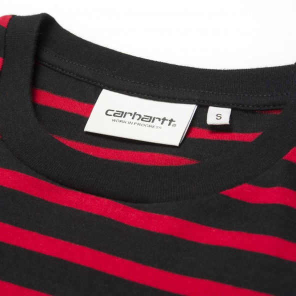 Carhartt WIP W S/S Robie T-Shirt Black / Blast Red / Quince-01