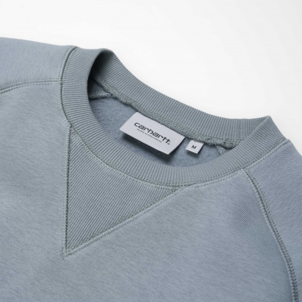 Carhartt WIP Chase Sweat Cloudy / Gold-01