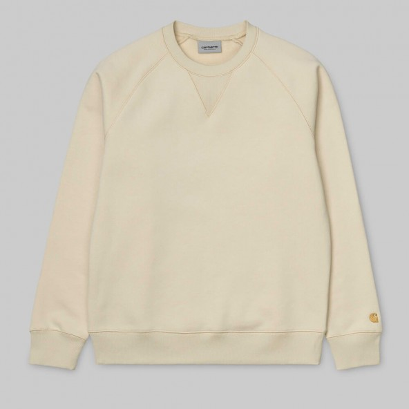 Carhartt WIP Chase Sweat Flour / Gold-01