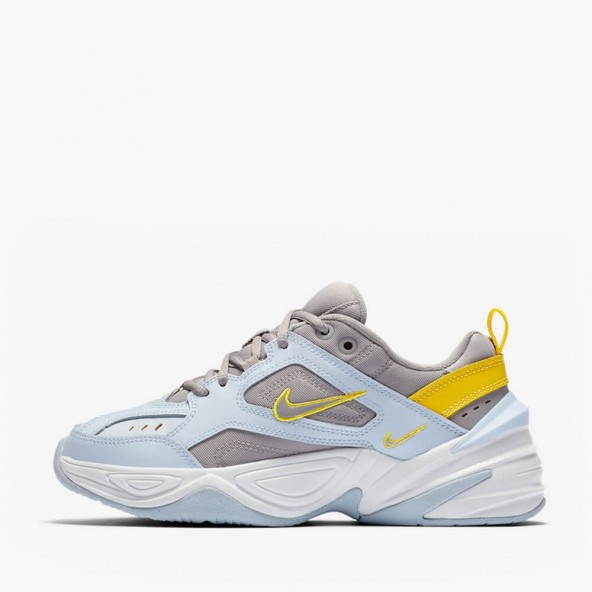Nike Wmns M2K Tekno Half Blue / Atmosphere Grey Chrome Yellow-01