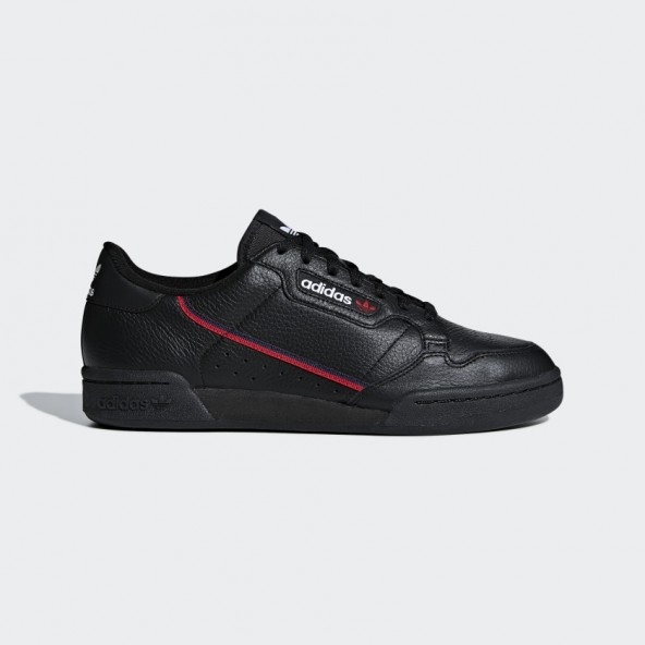 Adidas Continental 80 Core Black / Scarlet / Collegiate Navy-01