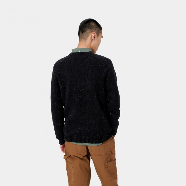 Carhartt WIP Anglistic Sweater Black Heather-01
