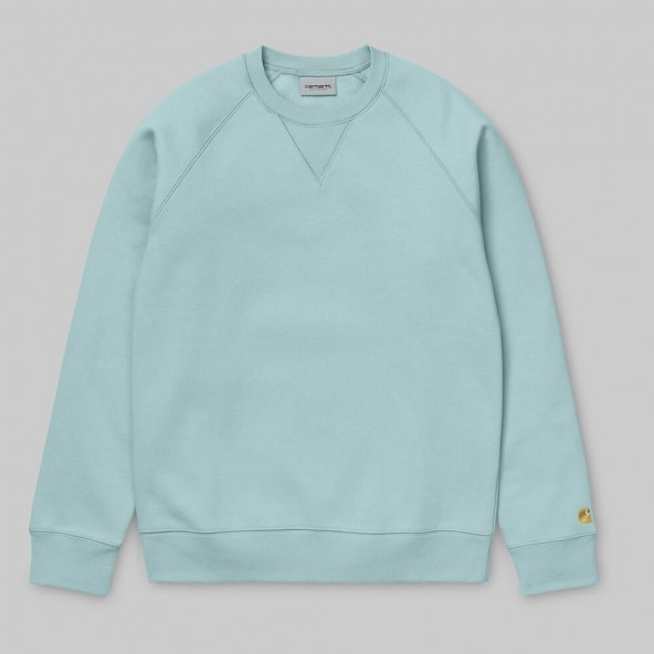 Carhartt WIP Chase Sweat Soft Aloe / Gold-01
