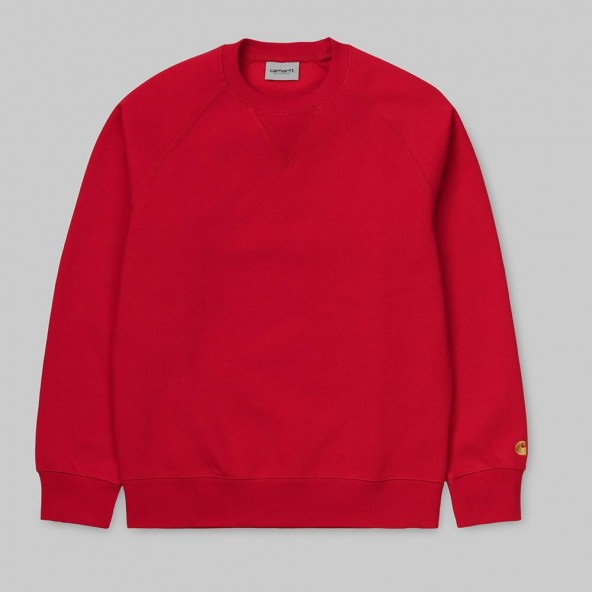 Carhartt WIP Chase Sweat Etna Red / Gold-01