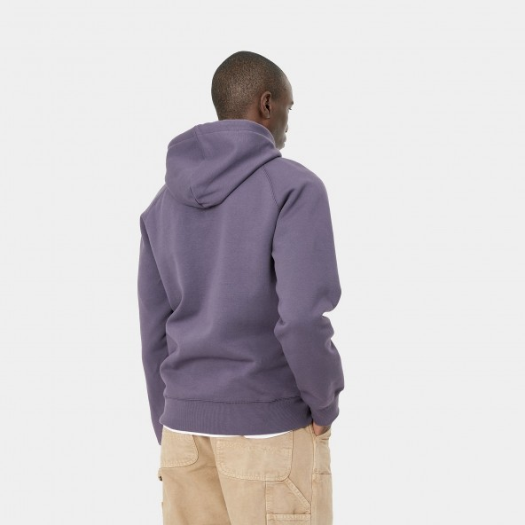 Carhartt WIP Hooded Chase Sweat Provence / Gold-01