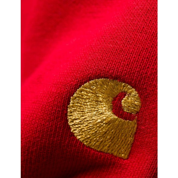 Carhartt WIP Chase Highneck Sweat Blast Red / Gold-01