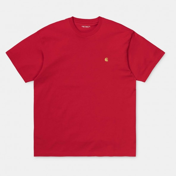 Carhartt WIP S/S Chase T-Shirt Etna Red / Gold-01