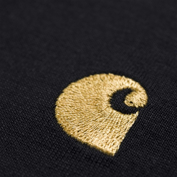 Carhartt WIP S/S Chase T-Shirt Black / Gold-01