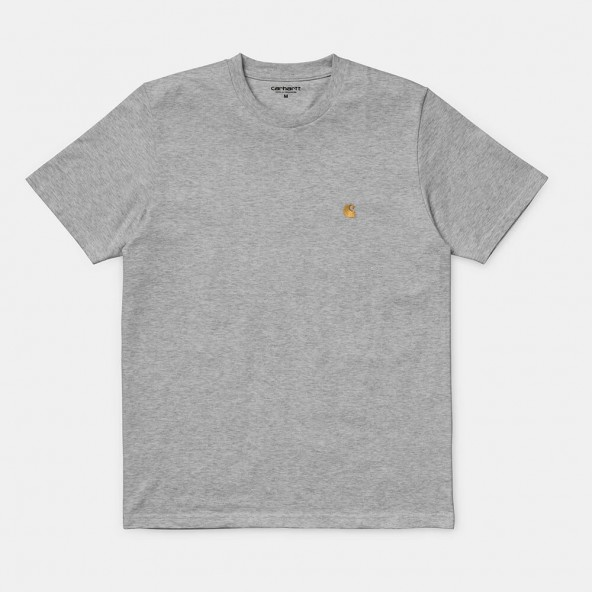 Carhartt WIP S/S Chase T-Shirt Grey Heather / Gold-01