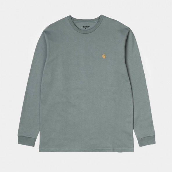 Carhartt WIP L/S Chase Shirt Cloudy / Gold-01