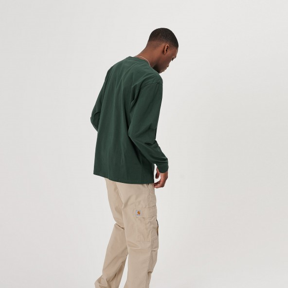Carhartt WIP L/S Chase Shirt Treehouse / Gold-01
