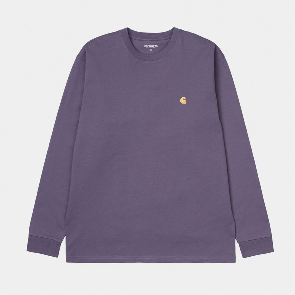 Carhartt WIP L/S Chase Shirt Provence / Gold-01