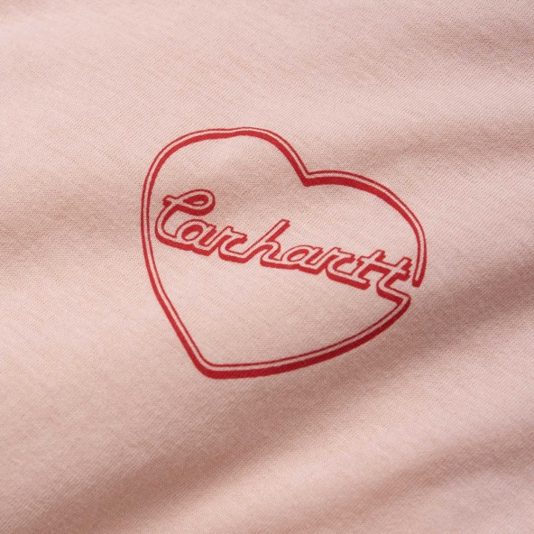Carhartt WIP W L/S Eve Heart T-Shirt Powdery / Etna Red-01