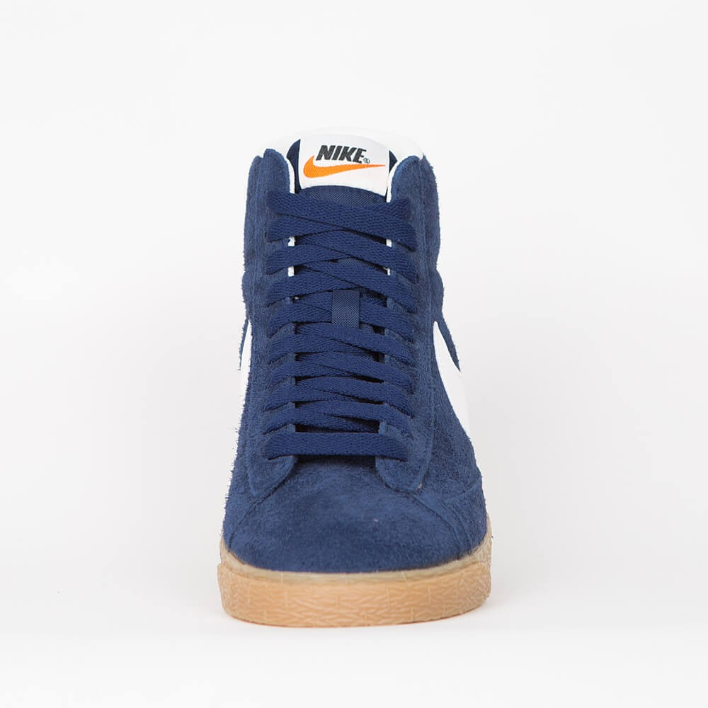 finest selection 4fa48 df189 Nike Wmns Blazer Mid Suede Vintage - Binary Blue   Ivory - Gum Light Brown  - Black