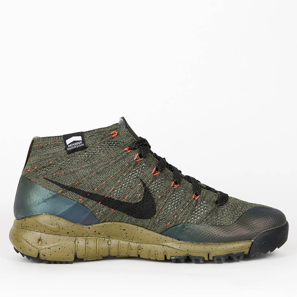 official photos e996e 7b7dc Nike Flyknit Trainer Chukka Sneakerboot - Sequoia   Black