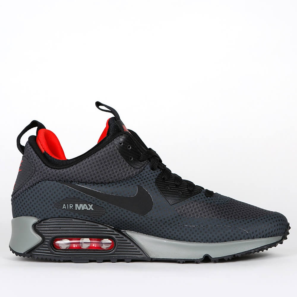 official photos 281e1 aa106 Nike Air Max 90 Mid Winter Print - Anthracite  Challenge Red  Tumbled Grey
