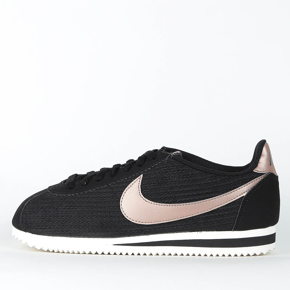 9423ecdfc60 Nike Wmns Classic Cortez Leather Lux - Black   Metallic Red Bronze - Sail