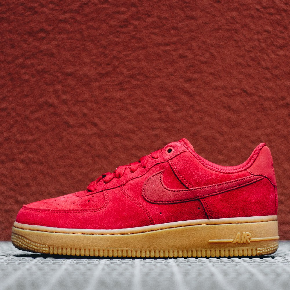 Nike Sportswear AIR FORCE 1'07 PRM - Trainers - habanero red/white/light brown/mars stone vZnJZi