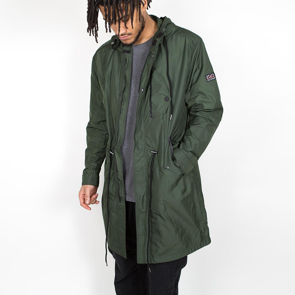 Ben Sherman Summer Parka Olive Green •