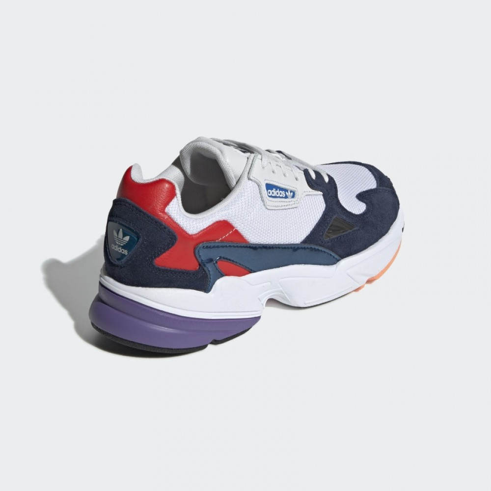 Adidas Falcon W Crystal White Collegiate Navy Stickabush Com