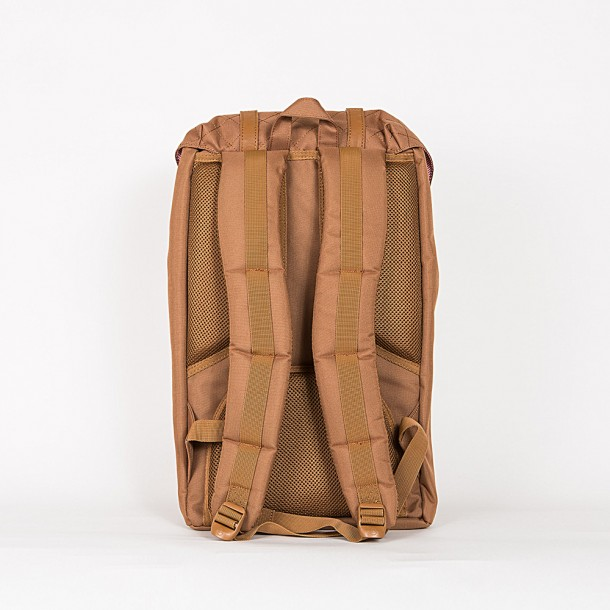 Herschel Supply Co. Little America Backpack Caramel Quilted-01