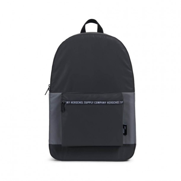 "Herschel Supply Co. Packable Daypack ""Day Night"" Collection Black   Silver  Reflective 10b3e95cbccdb"