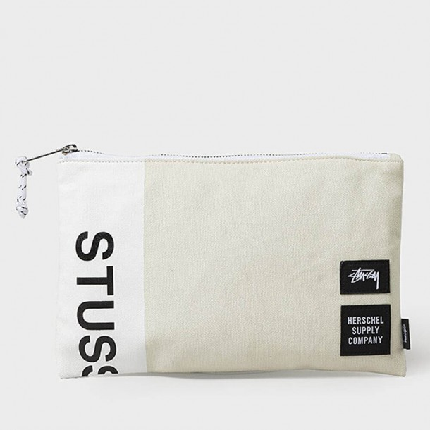 Stussy X Herschel Heavy Canvas Medium Network White-01