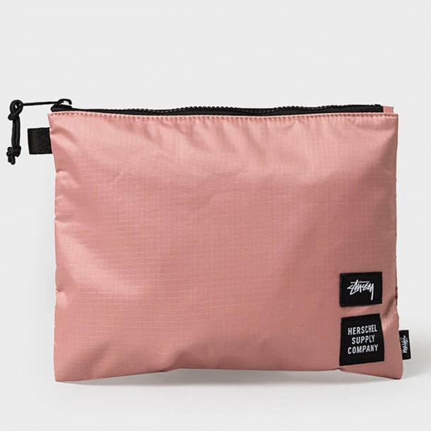 Stussy X Herschel Rip Stop Large Network Pink-01