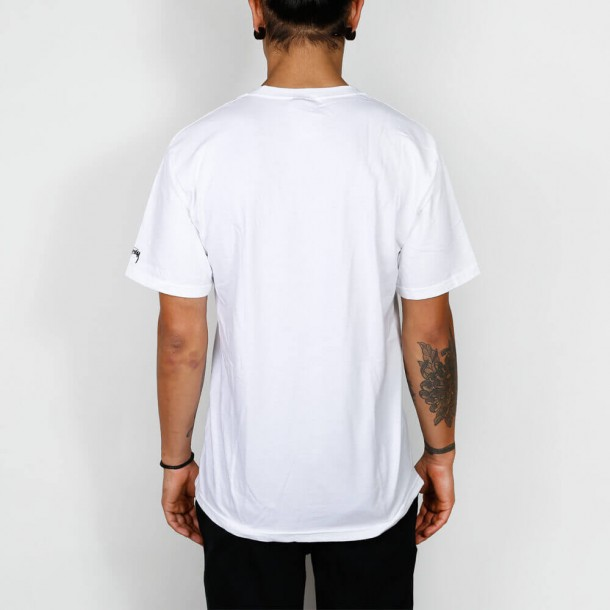 Stussy Aloha Cities Tee White / Black-01