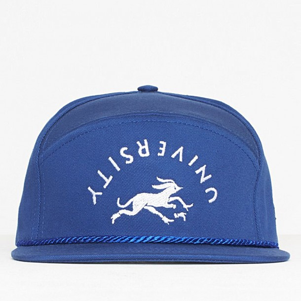 By Parra 6 Panel King Hat University Royal Blue-01