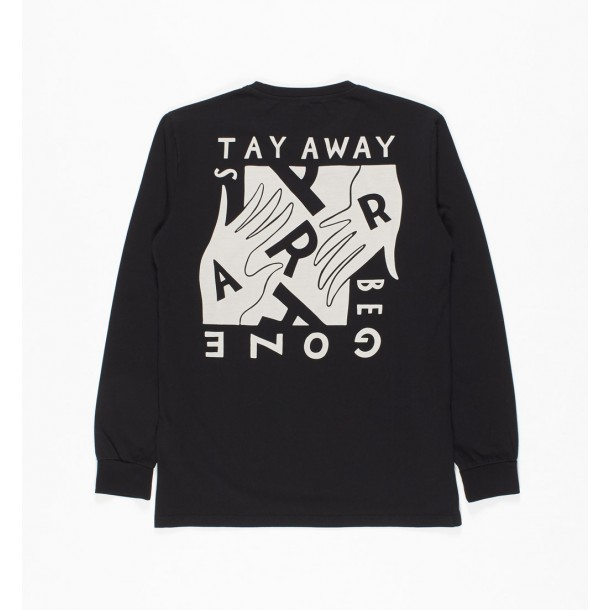 By Parra Long Sleeve Stay Away Be Gone Black-01