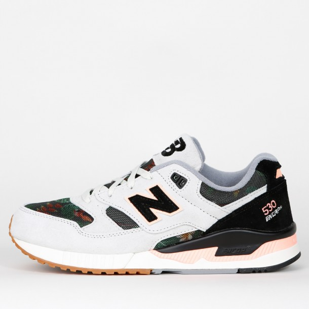 professional sale exquisite style well known New Balance W530 MON - Floral Ink - Steel / Black / Coral ...