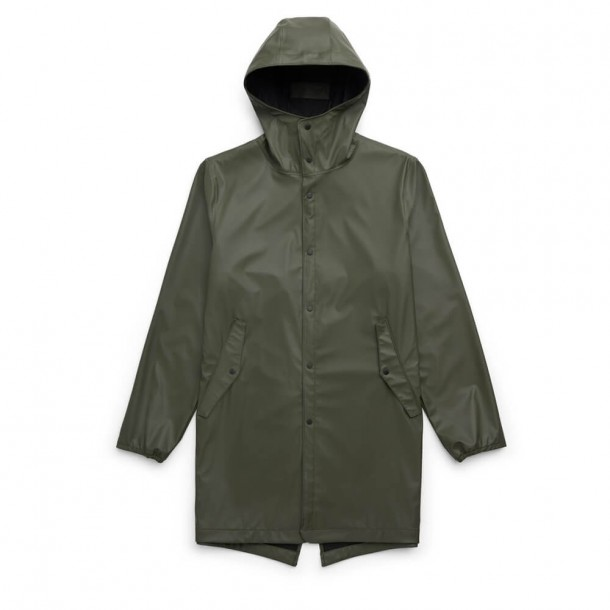 Herschel Supply Co. Rainwear Fishtail Parka Dark Olive-01