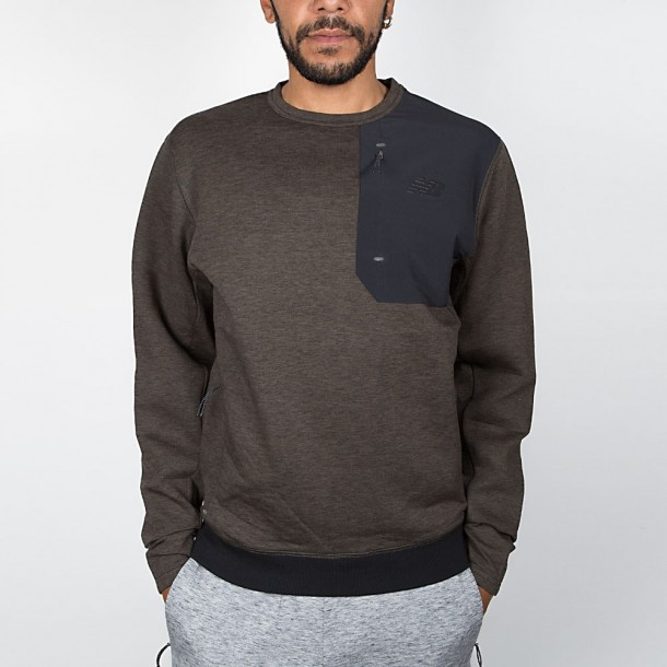 New Balance 247 Luxe Crew Sweatshirt Military Dark Triumph-01
