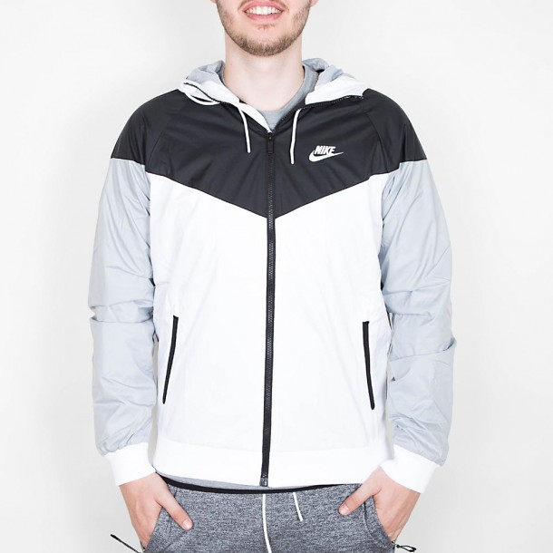 detailed look authentic quality get cheap Nike Windrunner Jacket - White / Black / Wolf Grey / White ...