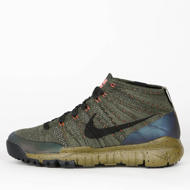 the latest 5d845 3ac49 Nike Flyknit Trainer Chukka Sneakerboot - Sequoia   Black - 805092 300 -  stickabush.com