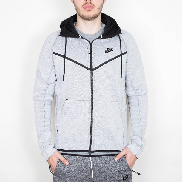 Nike Tech Fleece Windrunner Hoodie FZ White Heather