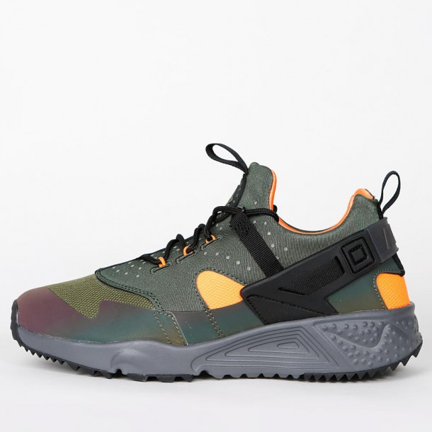 839750d725c0 Nike Air Huarache Utility Premium - Carbon Green   Black - Total Orange -  806979 300 - stickabush.com