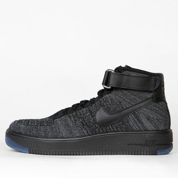 dc80a50129509 Nike Air Force 1 Ultra Flyknit Mid - Dark Grey   Black - 817420 001 -  stickabush.com