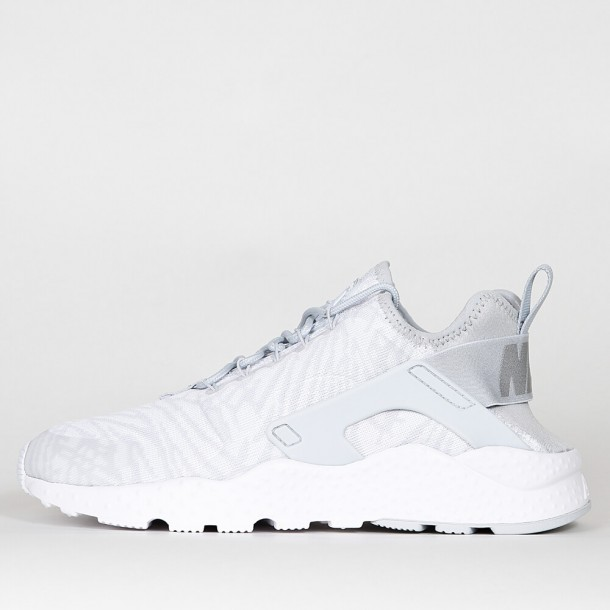 timeless design dad2f 78db9 Nike Womens Air Huarache Run Ultra Jacquard - White   Metallic Silver -  818061 100 - stickabush.com