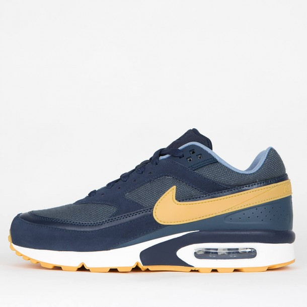 huge selection of 00482 3eadb Nike Air Max BW Premium - Armory Navy / Gum Yellow - Blue Fox •  stickabush.com