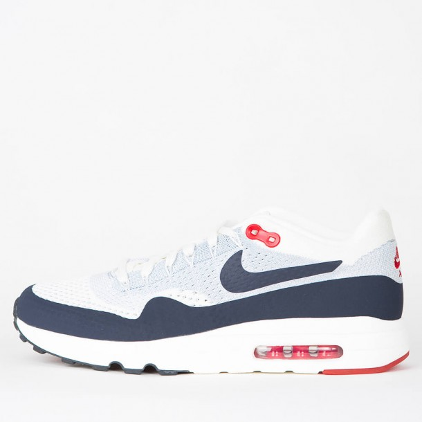 160ea23ee2 Nike Air Max 1 Ultra 2.0 Flyknit - Sail / Obsidian - Wolf Grey - University  Red • stickabush.com