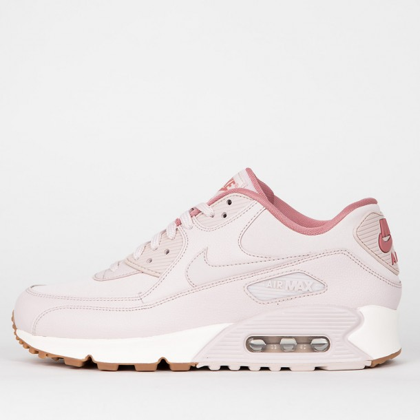 b46582b7063f Nike Wmns Air Max 90 Leather - Silt Red   Silt Red - Red Stardust ...