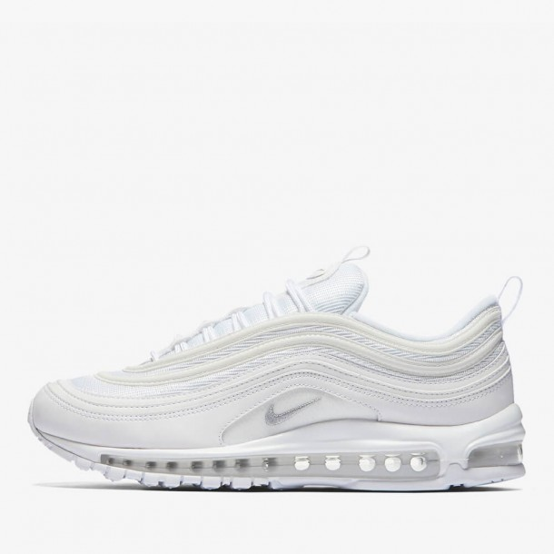 Nike Air Max 97 White Wolf Grey Black •